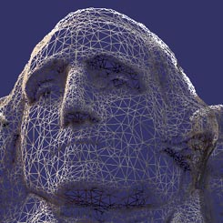 Mt Rushmore mesh model